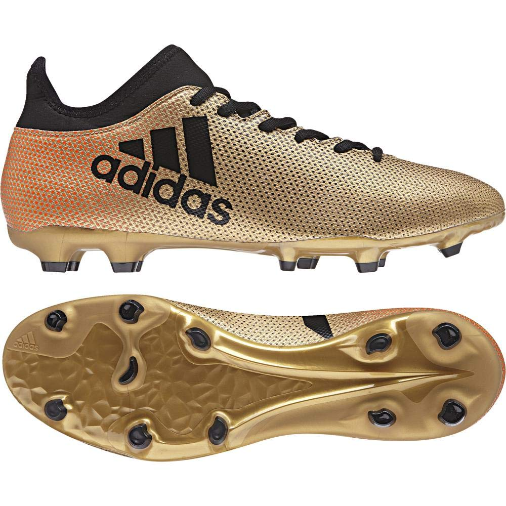 Or (or   noir   rouge or   noir   rouge) adidas X 17.3 FG, Chaussures de Football Homme 41 1 3 EU