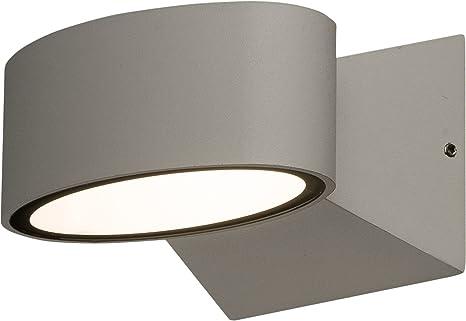 Lampe murale led up down light extérieur ovale blanc lampe k