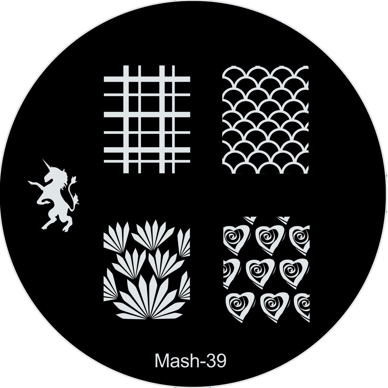 Amazon.com : MASH Nail Art Stamp Stamping Image Plate No 39 : Nail ...