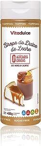 Sirope de dulce de leche sin azúcar, Topping de dulce de leche, Sirope bajo en calorías 400 gr - Vitadulce