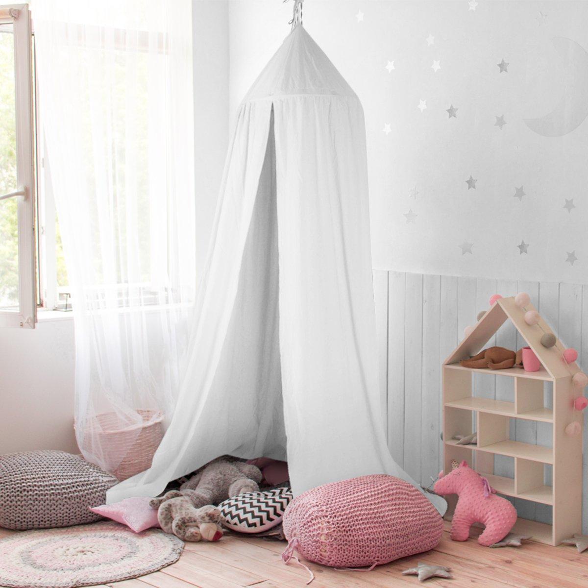 Digiflex Zanzariera bianca a baldacchino per letto, per dormire ...