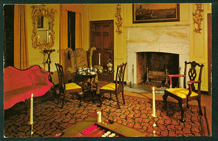 Parlor Of The Peyton Randolph House Marquis De Lafayette Antique Furniture  Williamsburg Virginia VA Postcard