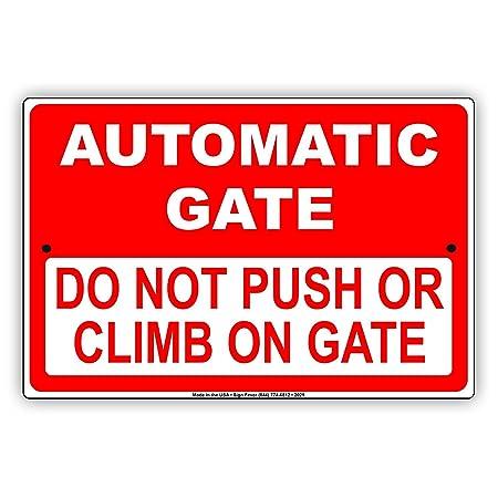 C-US-lmf379581 Señal de Metal para Puerta automática, no ...