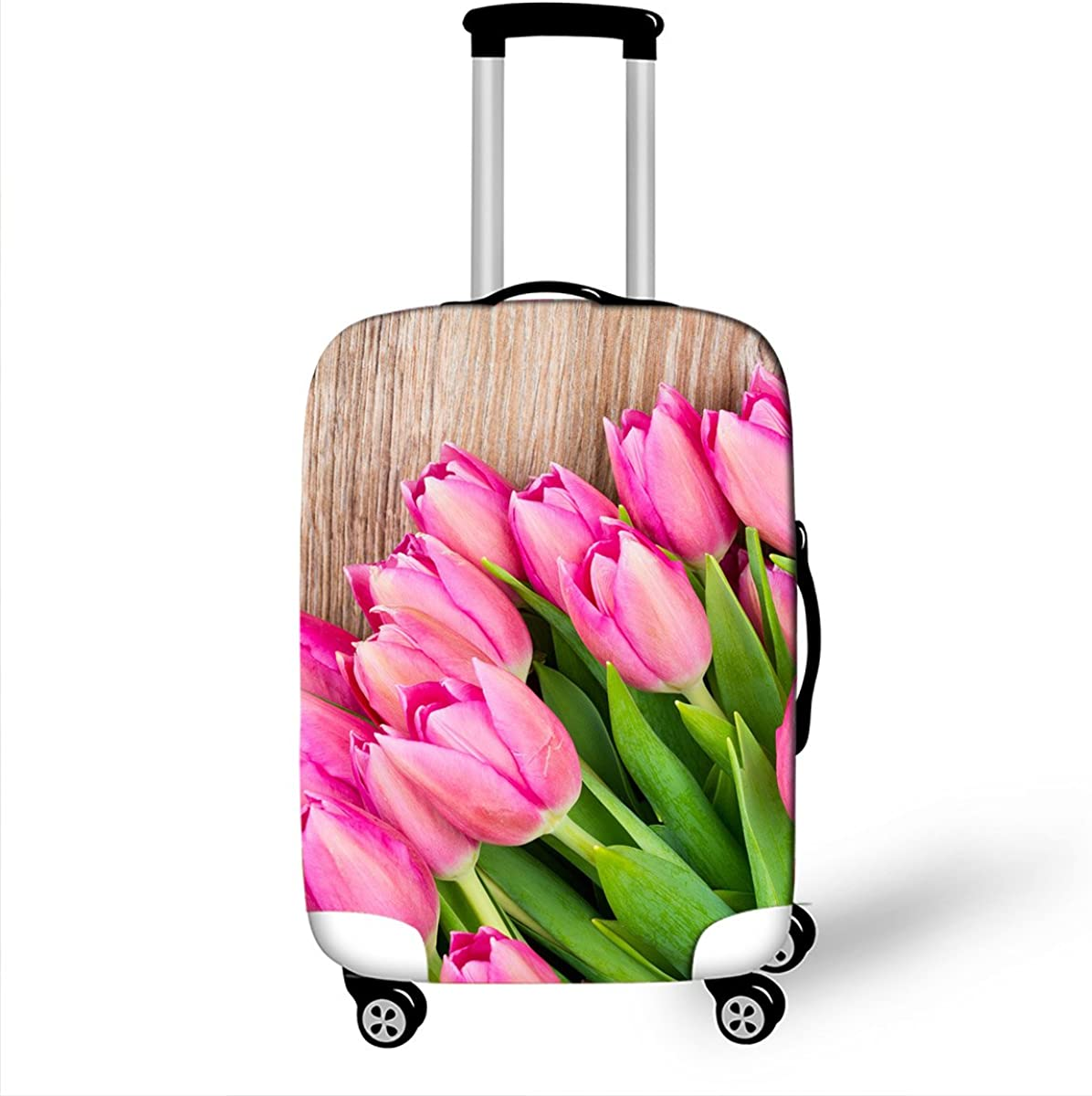Attractive 3D Printed Florid flower Luggage Protective Elastic Thick Suitcase Covers