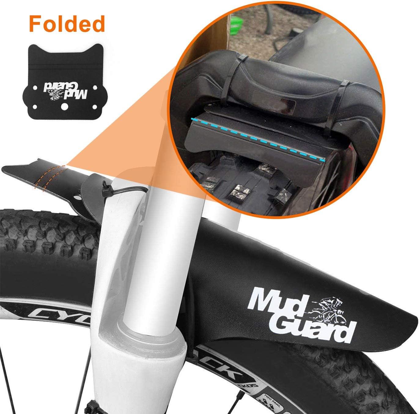 MZY1188 Garde-Boue VTT pour v/élos,Amortisseurs Avant Avant Amovibles Ailes de Roue Ass Saver Bike Fender Garde-Boue Accessoires de v/élo
