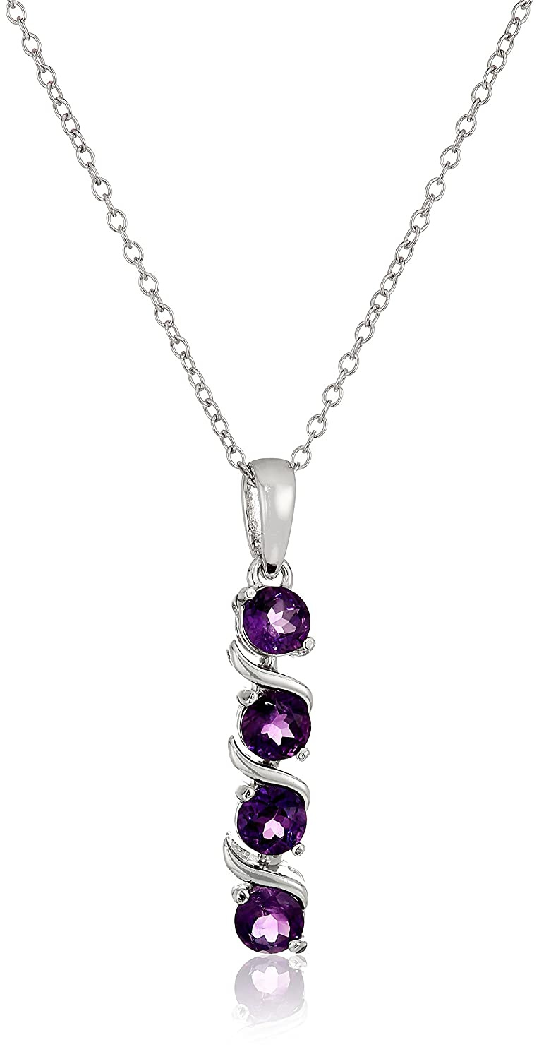 purple for zuan jewelry l sterling pin silver amethyst pendant natural stone necklace