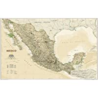 National Geographic: Mexico Executive Wall Map - Laminated (34.5 X 22.75 Inches)