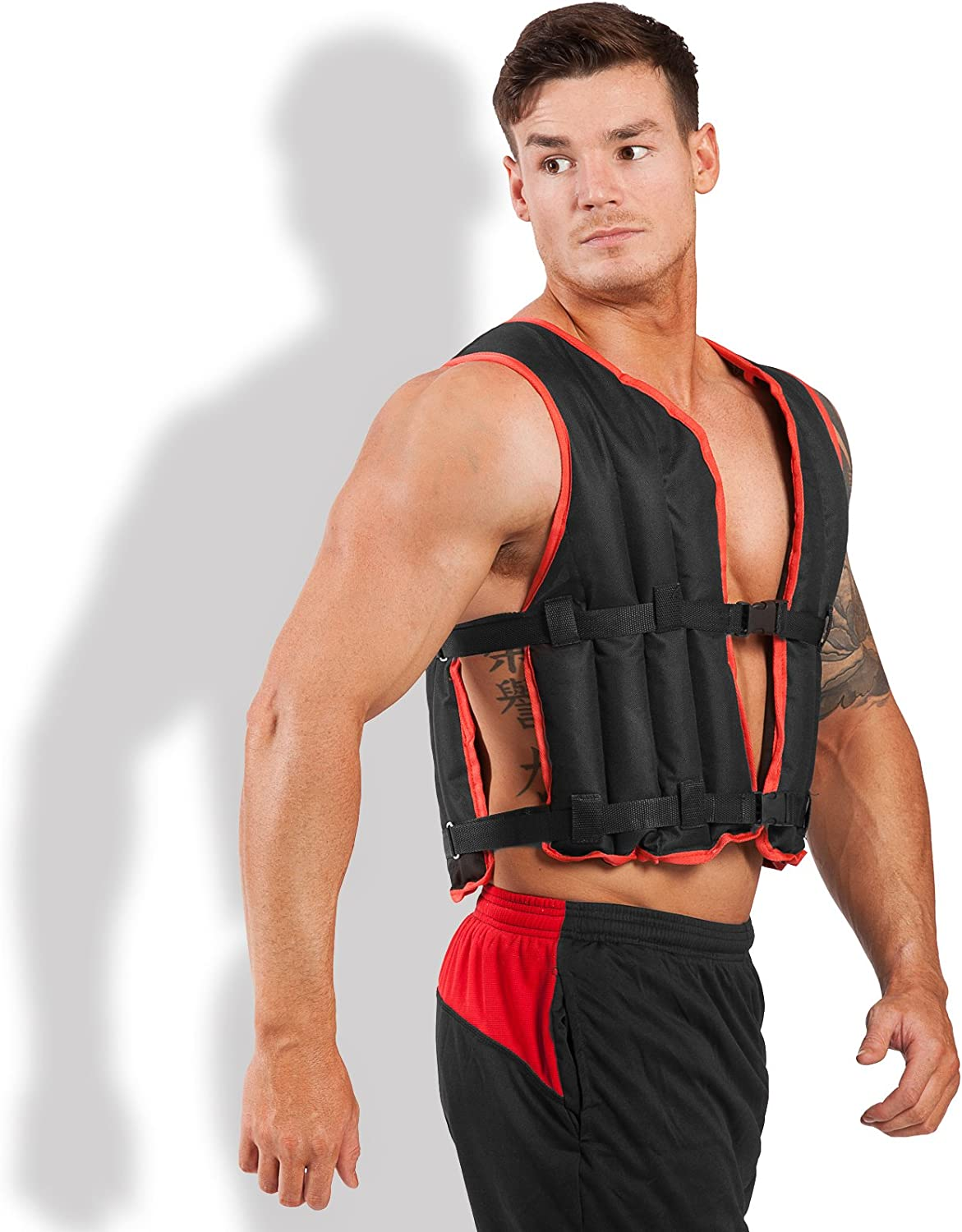 AYNEFY Strength Training Vest 10kg Unisex Weighted Vest Diving Elastic Cloth Invisible Weighted Jacket with Adjustable Buckle for Exercise Workout Fitness Running Boxing Fat Loss