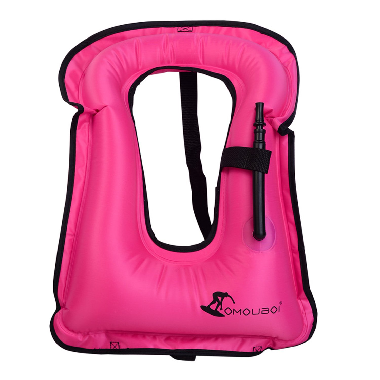 OMOUBOI Swim Vest, Safety Vest Easy Inflation Kids Life Vest for Water Activities (Pink) by OMOUBOI