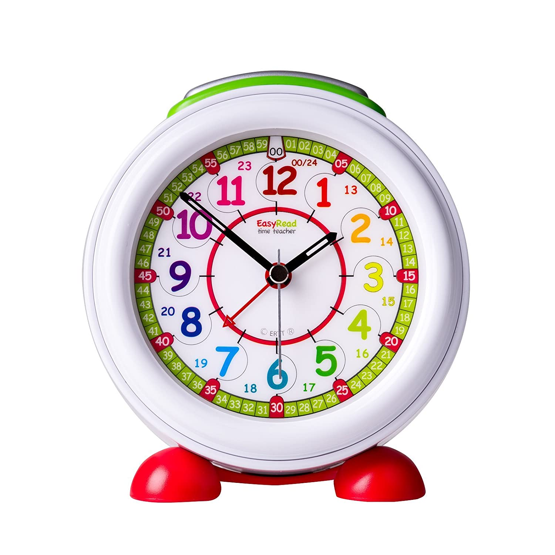 Sveglia EasyRead per insegnare ai bambini a leggere l'ora con luce notturna, con quadrante arcobaleno 24 ore EasyRead Time Teacher ERAC-COL-24