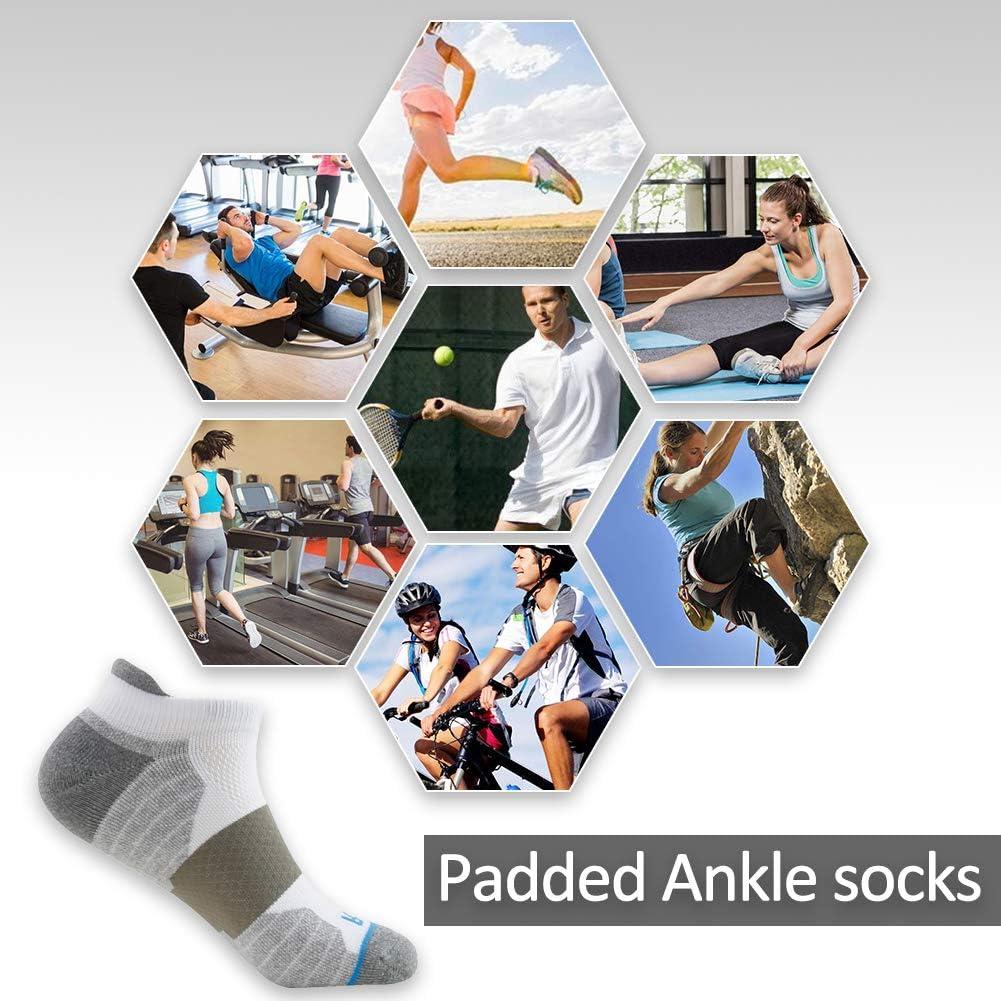 Performance Cotton Padded Low Cut Tab Athletic Socks Getspor Cycling Ankle Socks