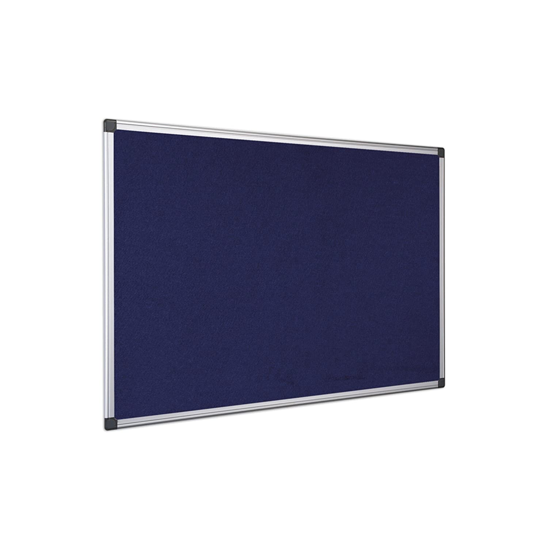 Bi-Office 120x180cm Aluminium Frame Blue Felt Notice Board