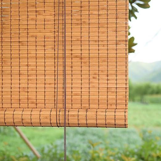 Persianas Cortina de Bambú de Alto Apagón, Enrollables Exteriores para Patio con Patio Trasero con Balcón Pergola, 85 Cm / 105 Cm / 125 Cm / 135 Cm de Ancho (Size : 85×180cm): Amazon.es: Hogar