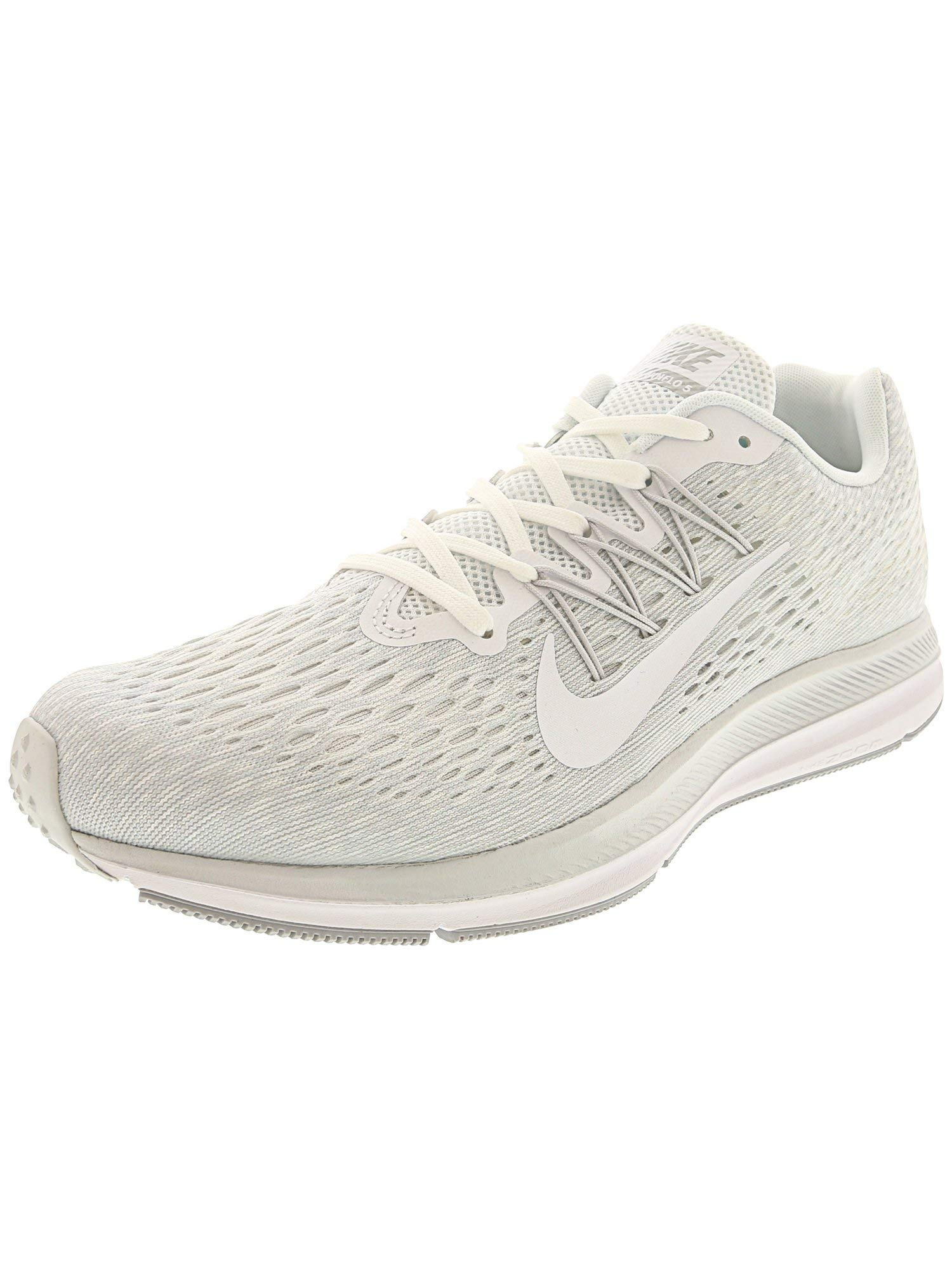 cc896f9968d Galleon - Nike Men s Zoom Winflo 5 White   - Wolf Grey Ankle-High Mesh  Running Shoe 10M