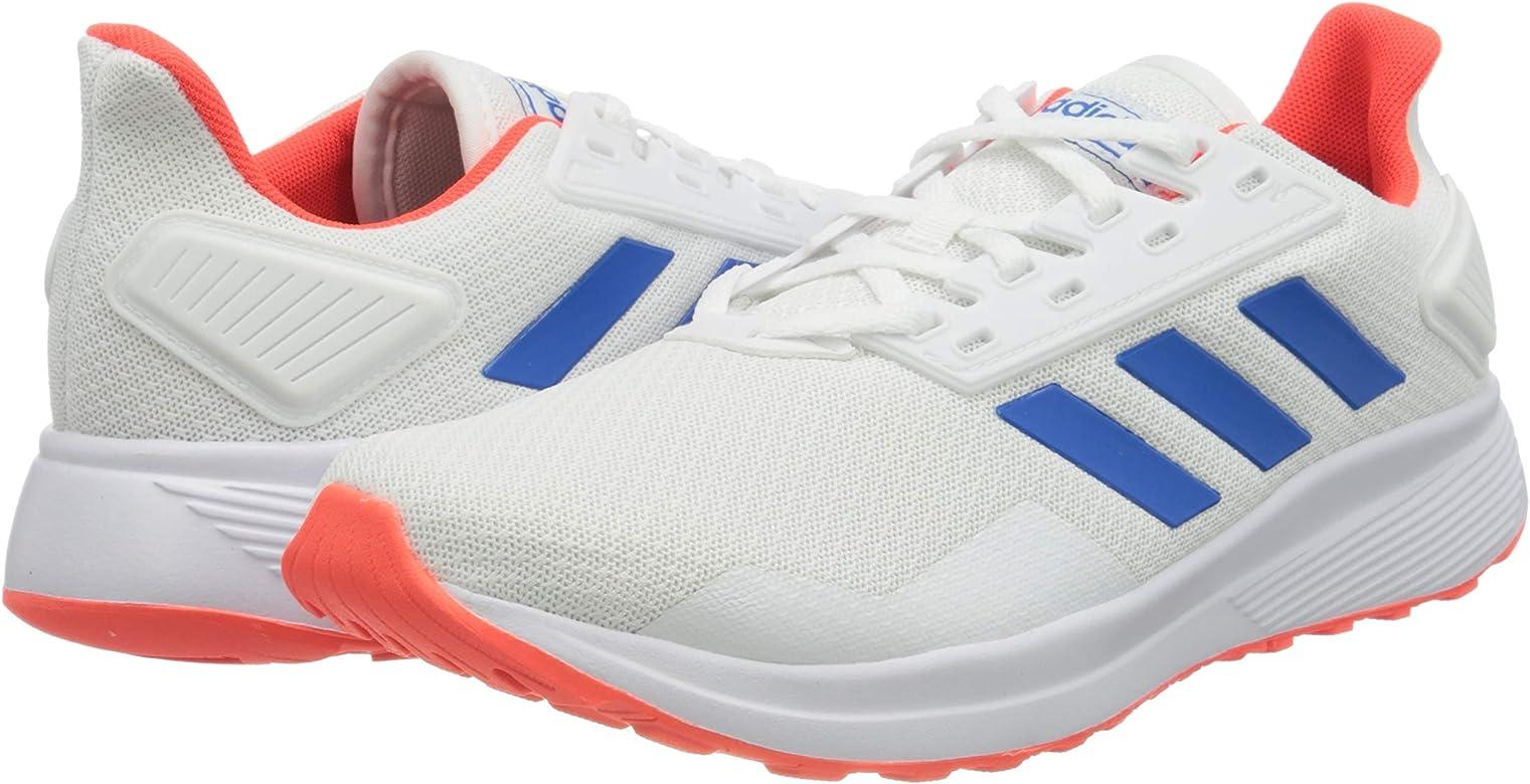adidas Duramo 9, Zapatillas para Correr para Hombre, FTWR White/Glory Blue/Solar Red, 43 1/3 EU: Amazon.es: Zapatos y complementos