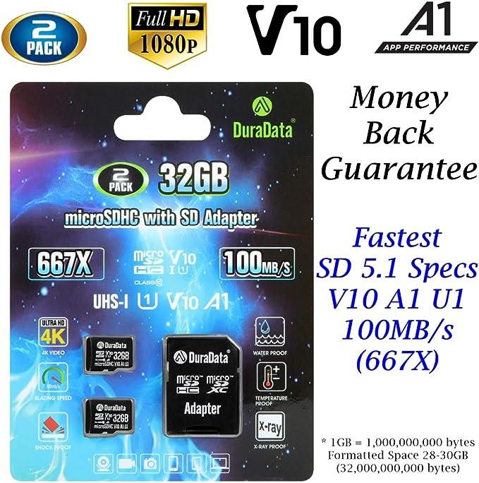 Amazon.com: DuraData - Tarjeta de memoria micro SD (clase 10 ...