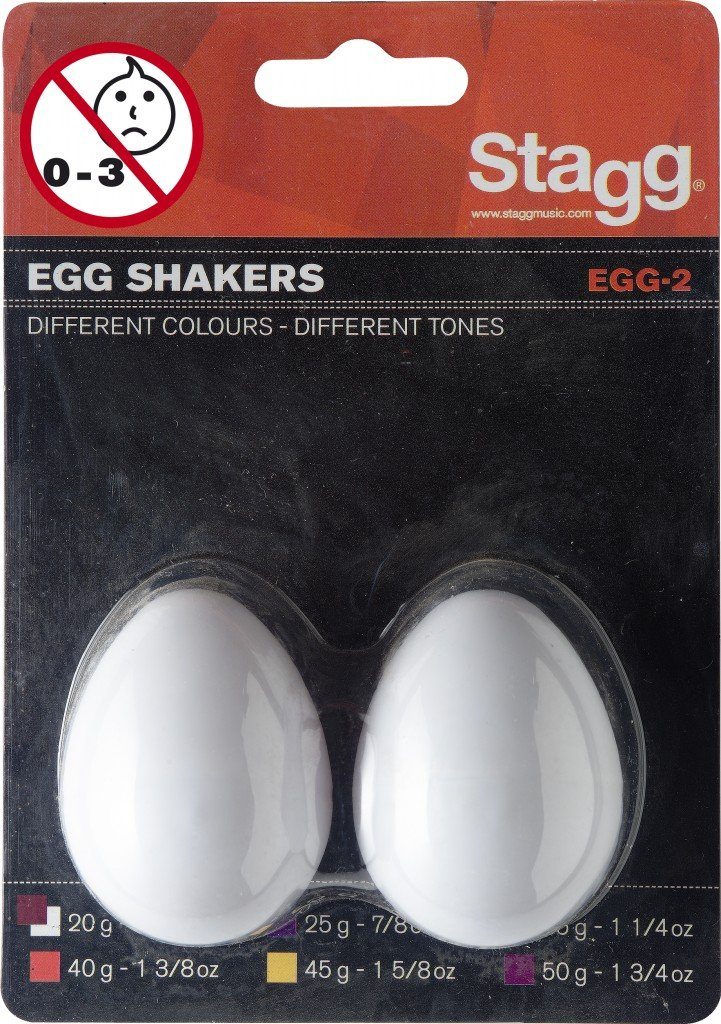 Stagg Egg Shakers (2 piece set) - White by Stagg