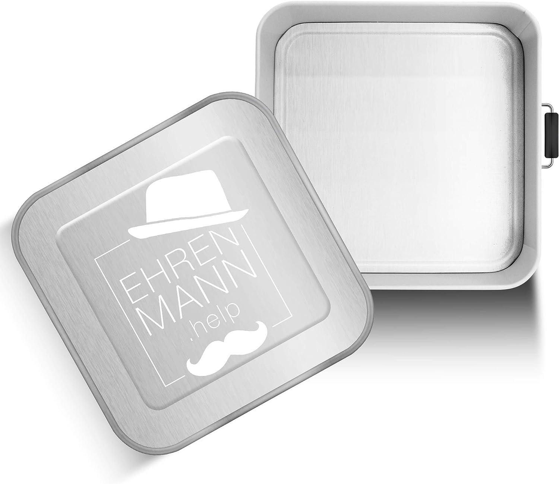 EHRENMANN.help Fiambrera de acero inoxidable XXL | 3 litros para toda la familia | incluye donación a la organización de ayuda a elegir | Caja Bento de metal XXL de alta calidad (WWF)