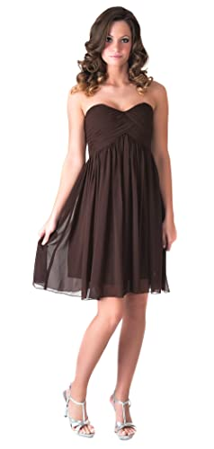 Faship Womens Elegant Short Pleated Formal Dress