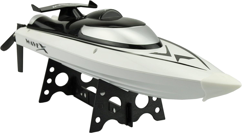 Amewi WaveX Bote de Juguete 1800mAh - Juguetes de Control Remoto (Polímero de Litio)