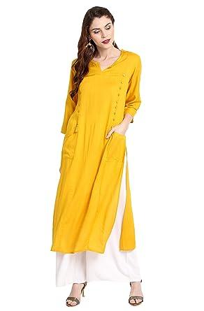 c1ca1a2ca92 Janasya Indian Tunic Tops Rayon Kurti for Women at Amazon Women s ...