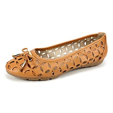 Rialto Shoes Gisela Women's Flat, Caramel, ...