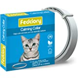 Fedciory Calming Collar for Cats, Adjustable Relieve Reduce Anxiety Pheromone Your Pet Lasting Natural Calm Collar Up to…