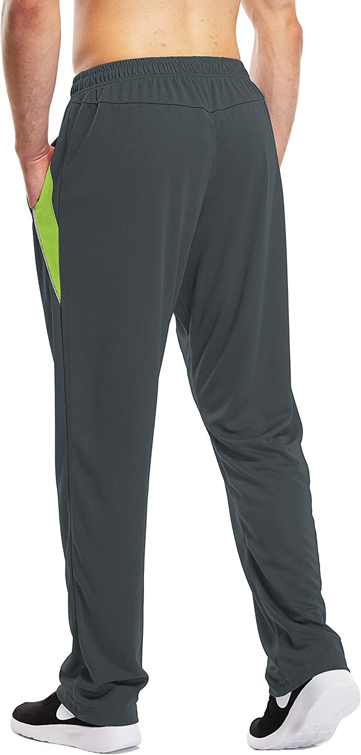 1994Fashion Mens Sweatpants Open-Bottom Workout Jogger Pant with Pockets: Clothing