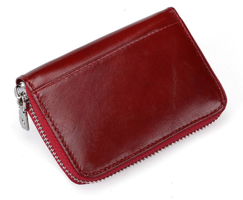 15dc08669a9 Tarjeteros para Tarjetas de Credito Mujer Hombre 12 Tarjetas Cartera Tarjetero  Piel RFID Bloqueo Monedero de ...