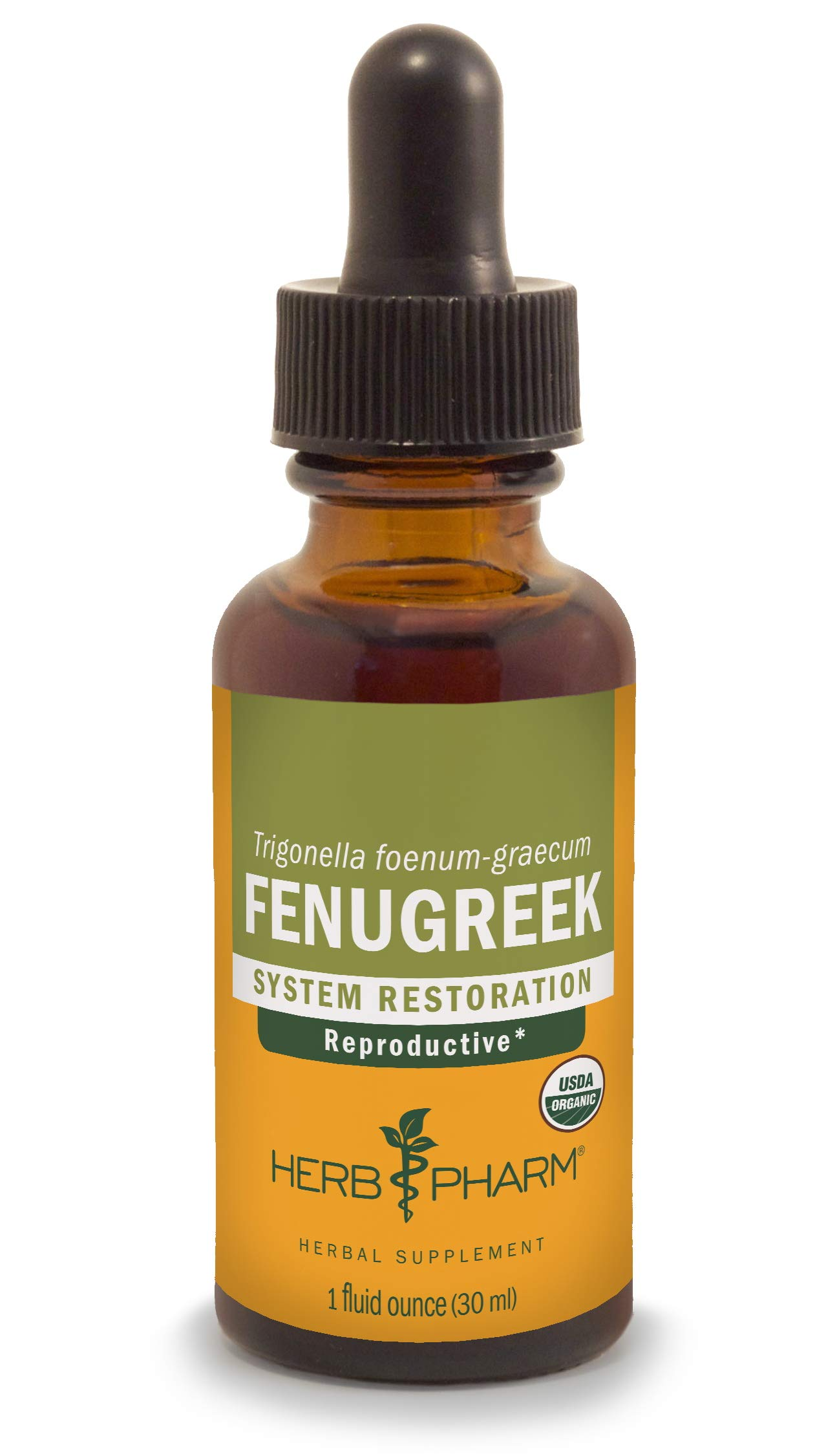 Herb Pharm Certified Organic Fenugreek Liquid Extract for Female Reproductive Support - 1 Ounce (DFENU01)