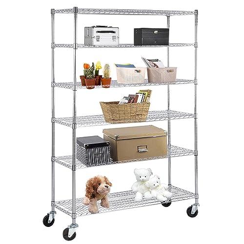 Kitchen Storage Units On Wheels: Metal Storage Shelves With Wheels: Amazon.com