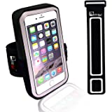"""Premium Armband for iPhone 7 with Fingerprint ID & Earphone Access. Phone Holder Arm Case for Sports, Fitness, Exercise, Gym Workouts & Running (Small 9"""" - Large 20"""" Arms)"""