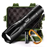 Amazon Price History for:Tactical Led Flashlight, beegod Handheld Bright Led Torch Flashlights Rechargeable (Black)