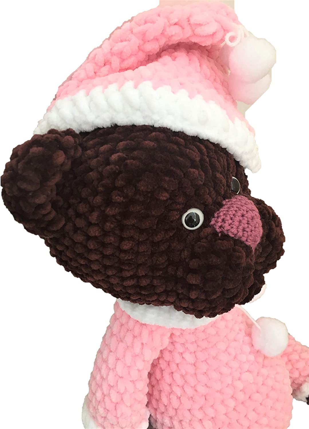 Soft Teddy Bear in Pajamas Knitted Toy Amigurumi Girl-bear as a Gift to the Child Knitted Teddy Bear Handmade.