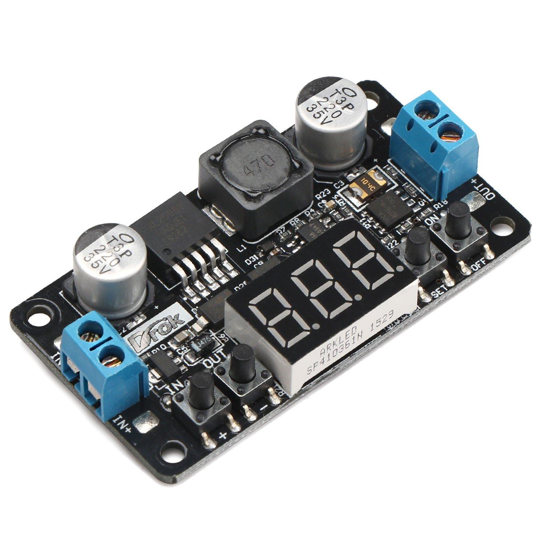 24v To 12v 5v Dc Converter Drok Lm2596 Buck Power Circuits Apmilifier Lm2577 Step Up Voltage 5 32v 0 30v Down Adjustable Output Regulator Board Supply
