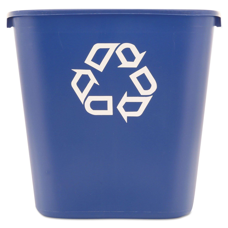 Rubbermaid Commercial 28 1/8 Quart Blue Medium Deskside Recycling Container