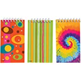 Mini Spiral Notepads Party Bag Fillers, Pack of 12