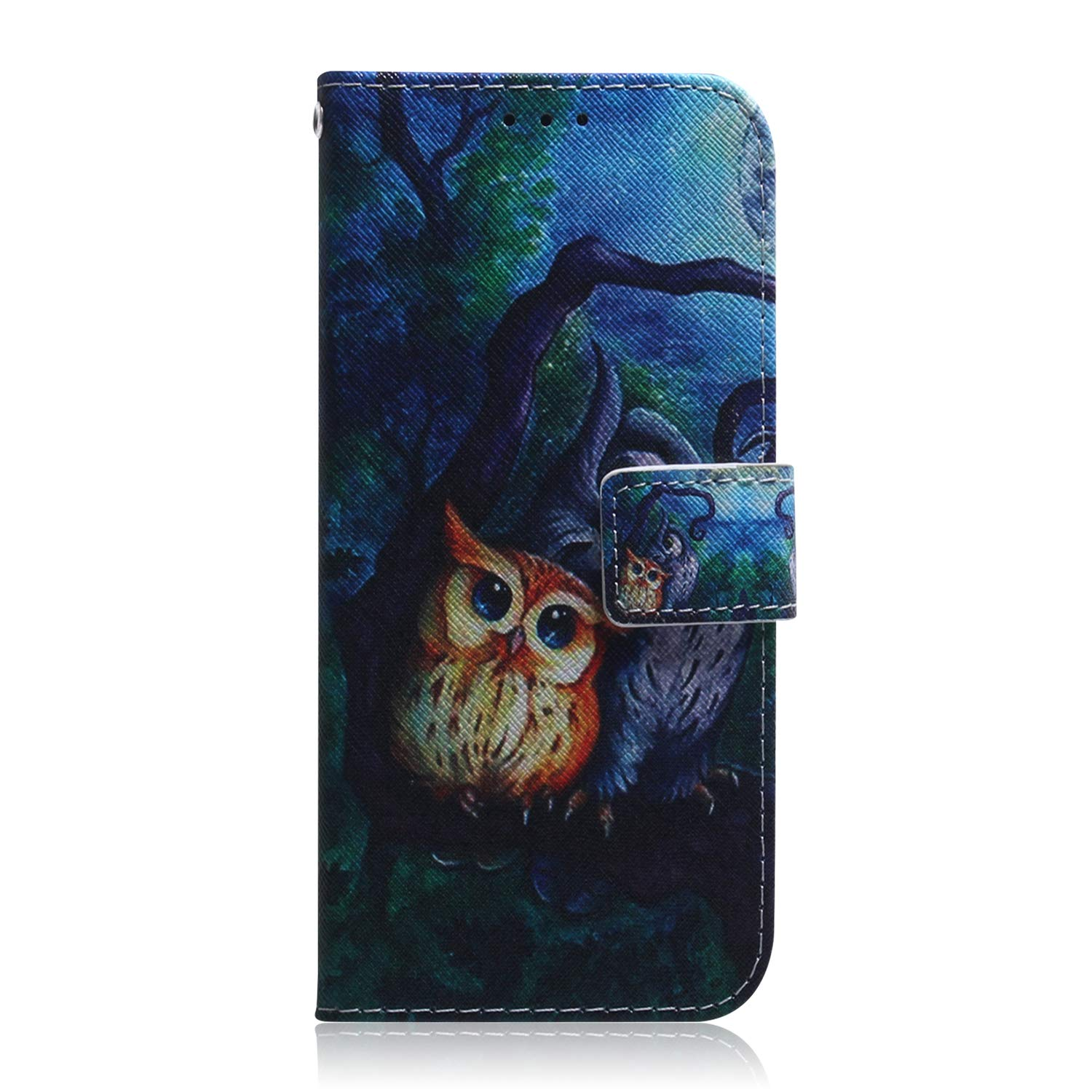 Lomogo Leather Wallet Case with Kickstand Card Holder Shockproof Flip Case Cover for Samsung Galaxy M20 LOTXI140103#3 Samsung Galaxy M20 Case