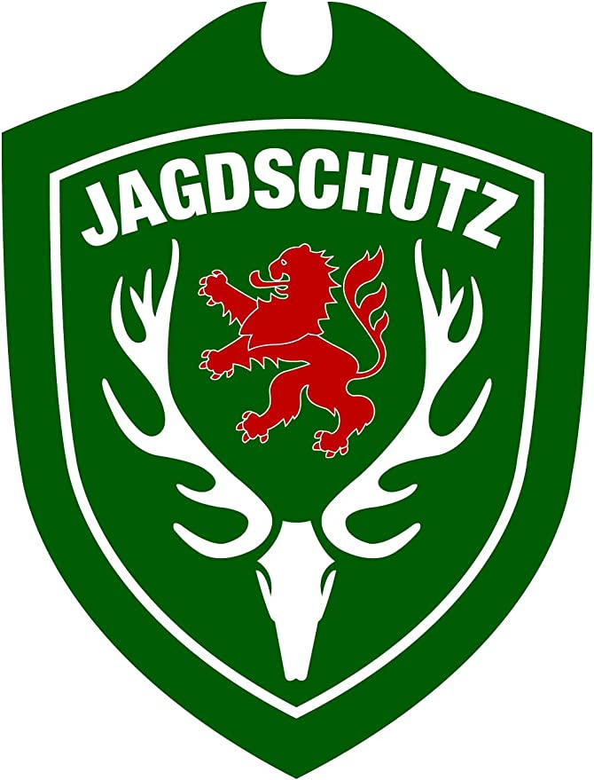 Waidmannsbruecke Unisex Erwachsene Jagdschutz Hessen Autoschild Grün One Size Sport Freizeit