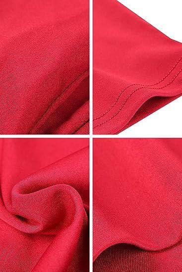 Yming elegancka sukienka koktajlowa dla kobiet, głęboki dekolt w szpic, rękawy 3/4, vintage, plisowana sukienka: Odzież