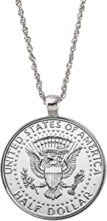 product image for Presidential Seal Half Dollar Coin Silvertone Pendant Necklace