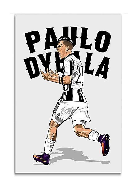 bce8b7642 Tamatina Juventus Football Club Poster - Paulo Dybala - Fan Art - HD  Quality - Large