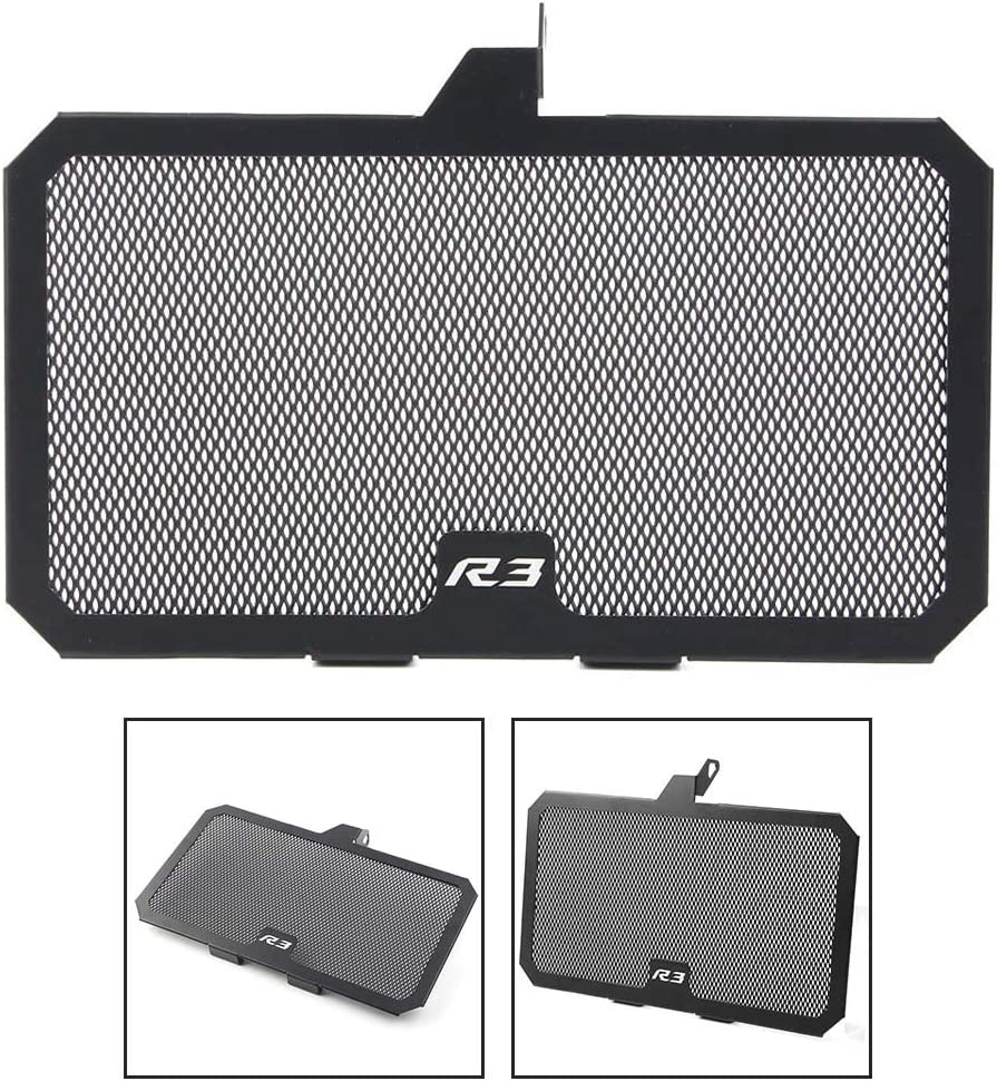GZYF Motorcycle Aluminum Radiator Grille Cover Compatible with Yamaha YZF-R3 2015-2019