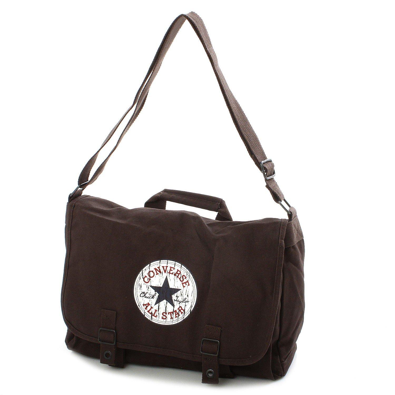 3e60677ce5 CONVERSE Canvas Shoulder Bag Vintage Patch Brown Chocolate  Amazon.co.uk   Shoes   Bags