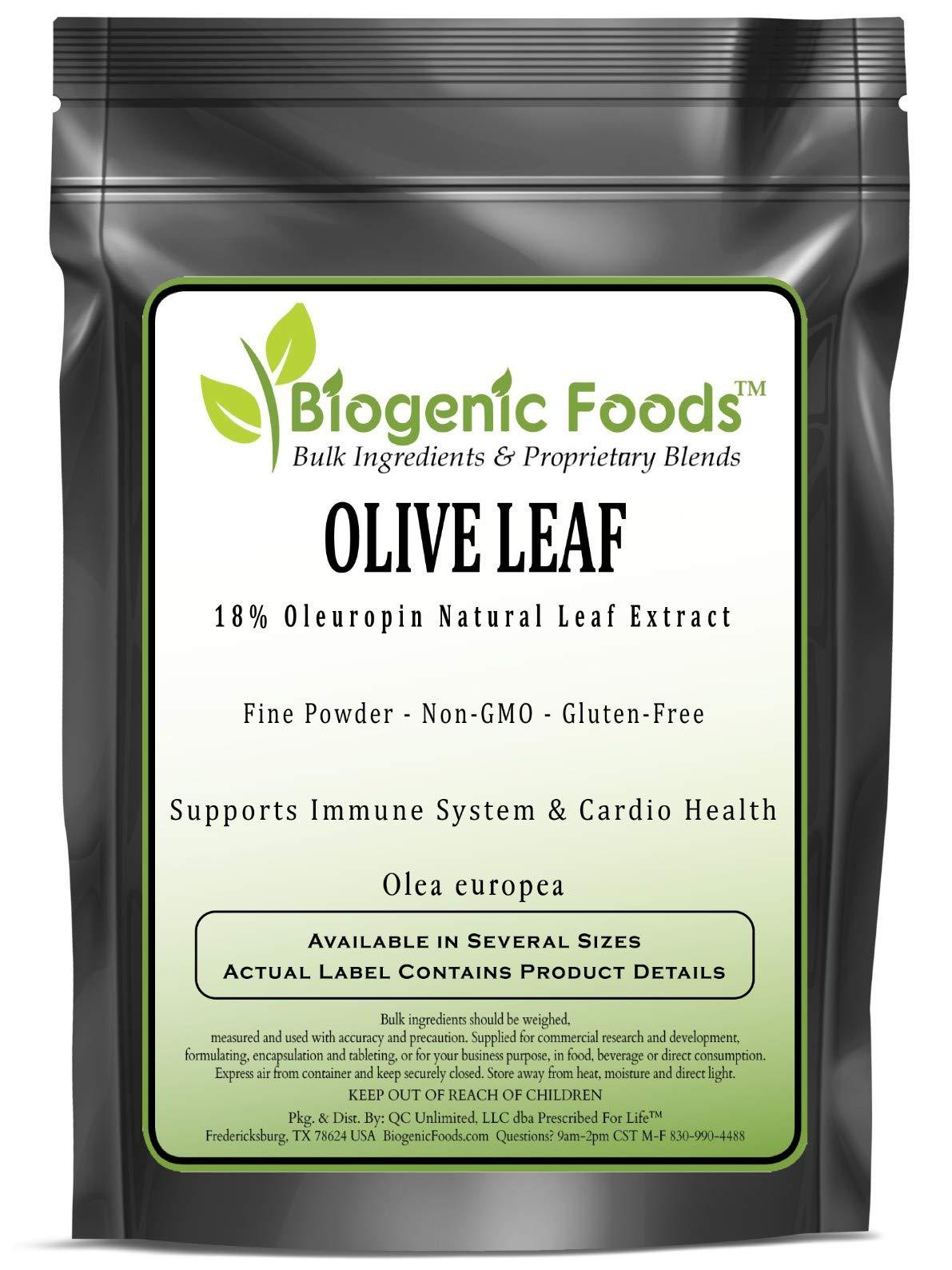Olive Leaf - 18% Oleuropin Natural Leaf Fine Powder Extract (Olea Europea), 1 kg
