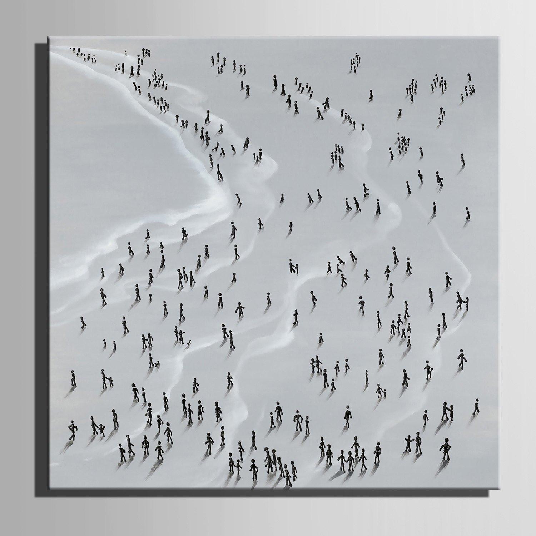 LTQ&QING new-Leinwand-Kunst-Leute auf auf auf der Strand-Dekoration-Malerei, 6060 B07CSJZ6RB Zeichenpapier Aktuelle Form 356d7d