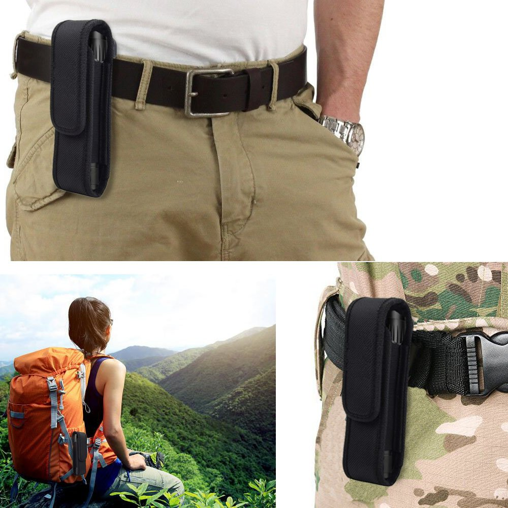2 Pcs Flashlight Holster Pouch Holder Flash Light Belt Pouch Carry Case for 5-7 Tactical Flashlight with Stretch Capability/&Durable Nylon