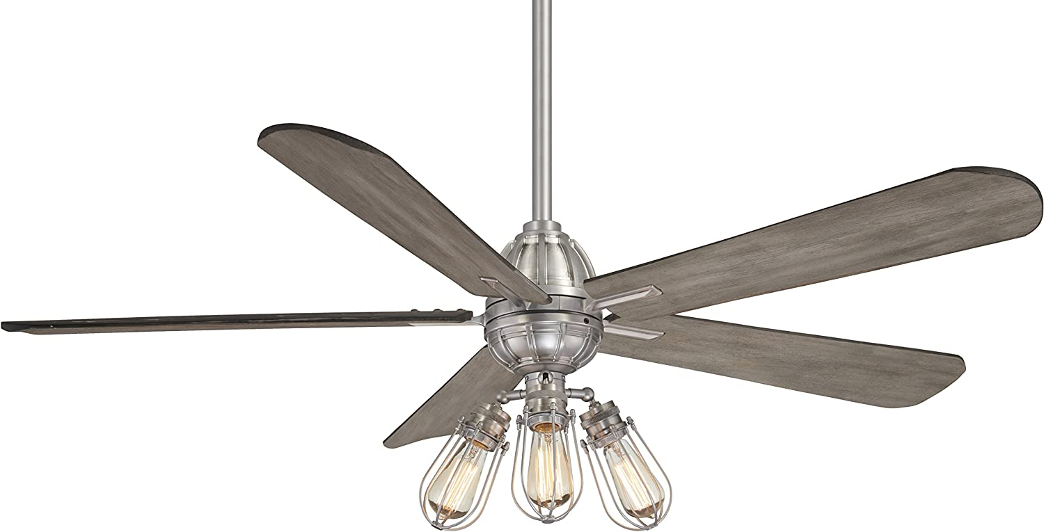 Minka-Aire F852L-BN Alva 56 Inch Ceiling Fan with Integrated LED Light and DC Motor in Brushed Nickel Finish