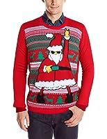 RAISEVERN Unisex Funny Print Ugly Christmas Sweater Crewneck Sweatshirt Various Design