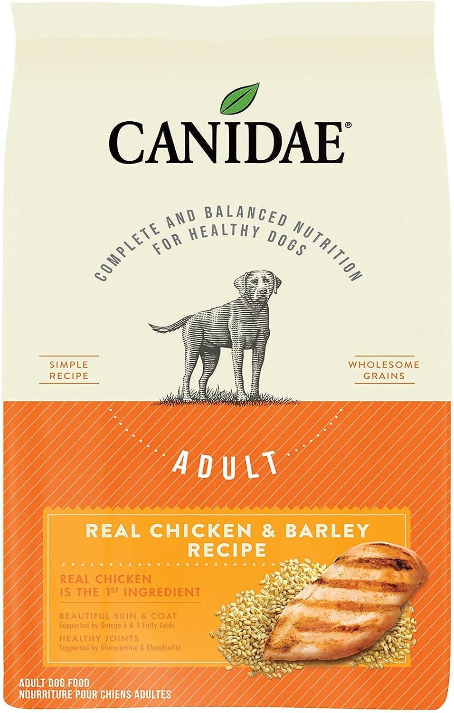 CANIDAE Real Chicken & Barley Dry Dog Food, 25 LB Bag, 25 LBS